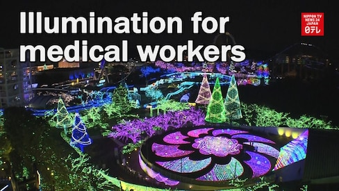 Amusement Park Shines for Medical Workers