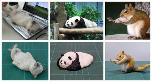 Artist Makes 3D Sculptures of Strange Pet Pics