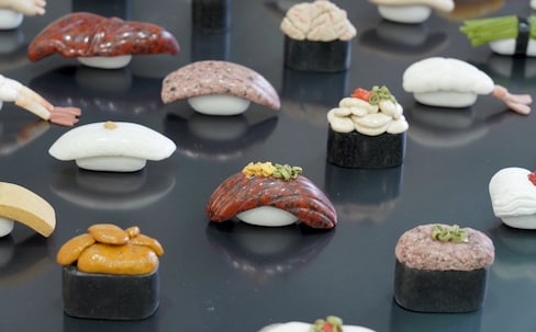 Art Student Turns Polished Stones into Sushi