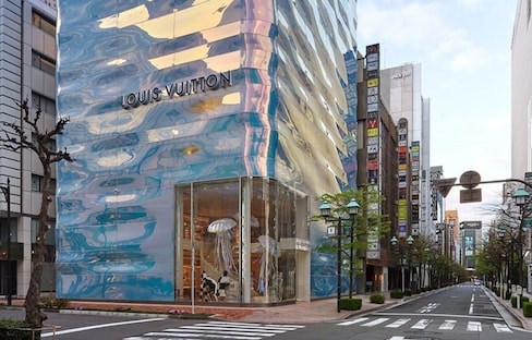 Louis Vuitton's Water Design Shimmers in Ginza