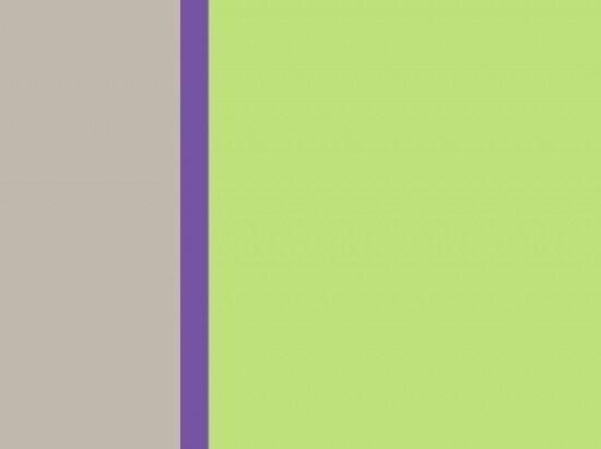 ライトウォームグレー、すみれ色、アップルグリーン