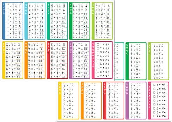画像 79 九九表や九九カード無料ダウンロード暗記に役立つ