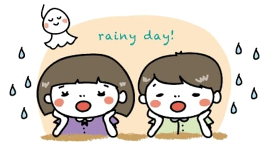 子ども 梅雨 イラスト カラー かわいい