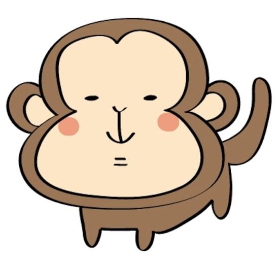 画像 16年賀状 サルの可愛いイラスト テンプレート集 Web素材 All About