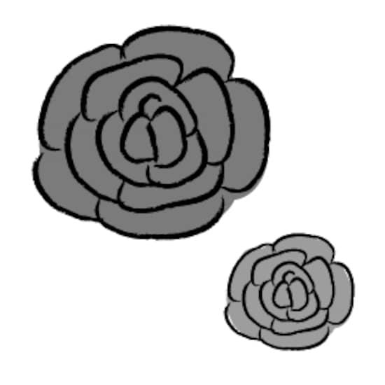 画像 1523 花のかわいい無料イラスト集白黒カラー Web素材