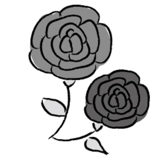 画像 1623 花のかわいい無料イラスト集白黒カラー Web素材