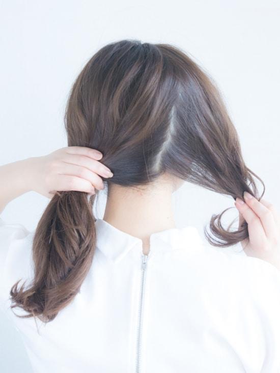 前髪 なし ひとつ 結び