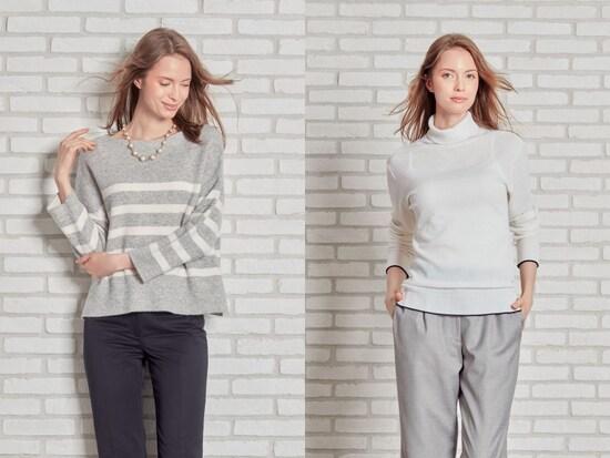 ea49c3075801d 色やデザインどこまでOK?女性のスーツマナーQ A(画像). 前へ. ニットやカットソーを合わせる傾向も 画像提供:HANABISHI