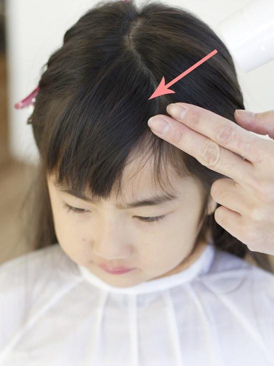 方 子供 前髪 切り