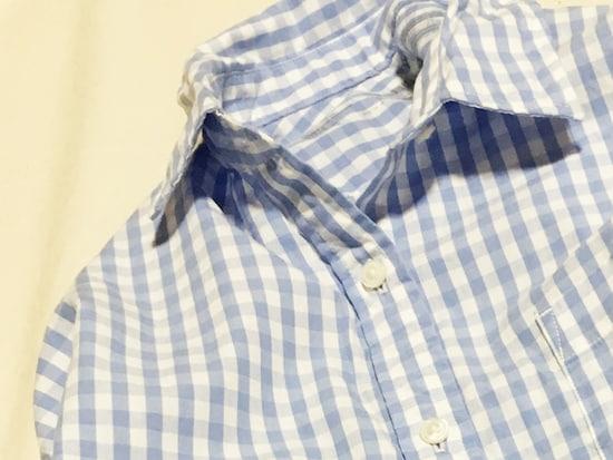 無印良品七分袖スキッパーシャツ 未使用 ギンガムチェック 値下げ − 大阪府