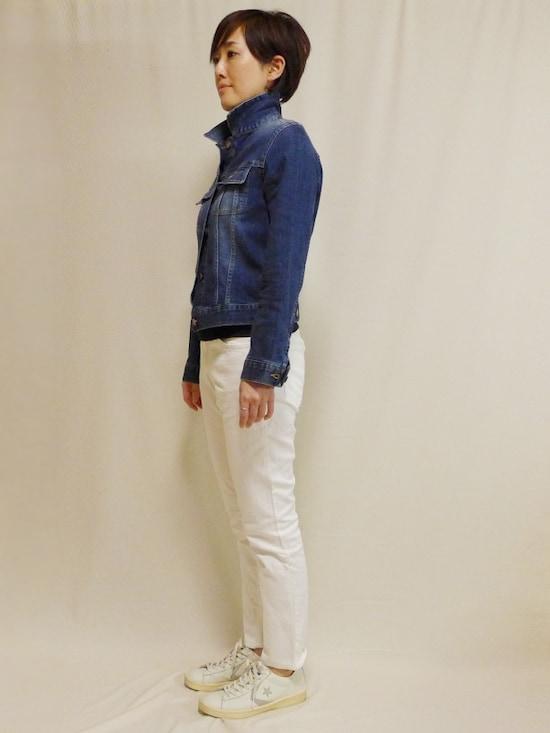 新品 無印良品 オーガニックコットン デニム スリム5ポケットパンツ ウォッシュ ジーパン ブラック ジーンズ メンズ W82 × L85 ストレッチ