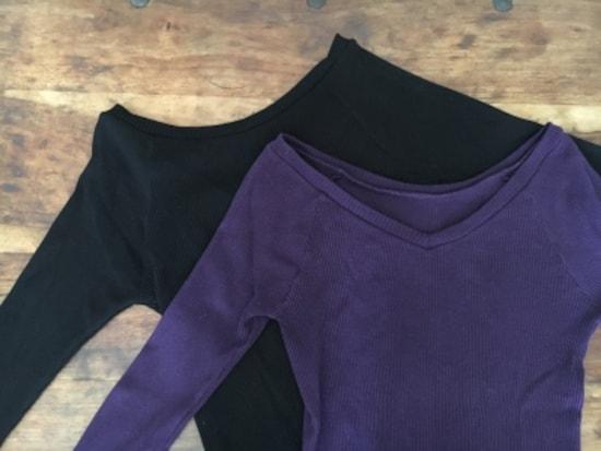 私が購入したのは秋に使いやすいダークカラーのブラック・パープルの2枚。