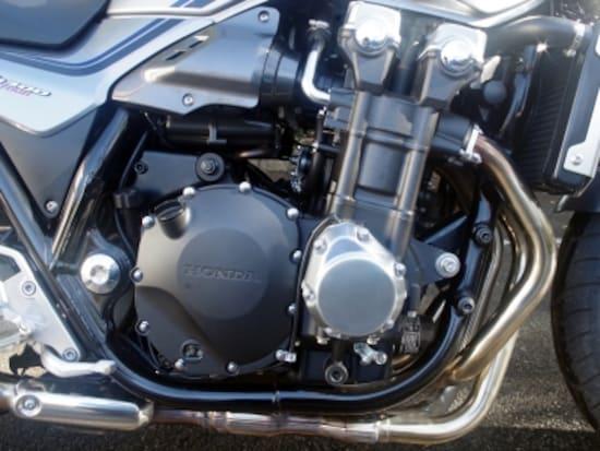 CB1300のエンジン。なんと9馬力アップした
