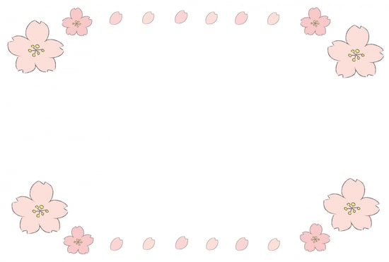 画像 2728 桜さくらのかわいい無料イラスト素材 白黒カラー Web