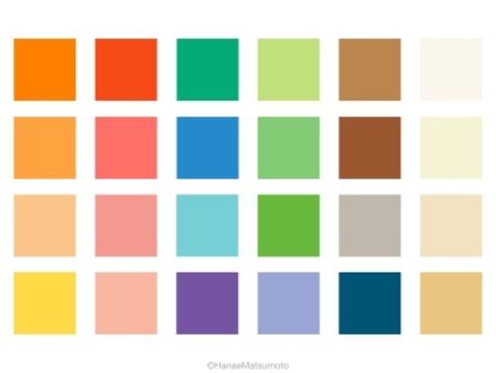 鮮やかできれいな色がお好きな方は、親しみやすい雰囲気の持ち主