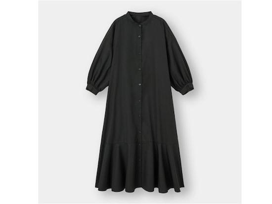 GUバンドカラーシャツワンピース2990円(税込)