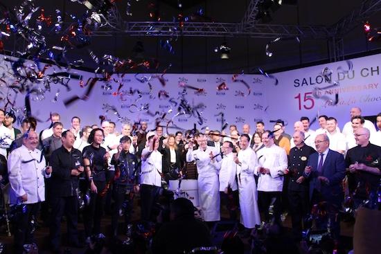 2017年に開催された第15回サロン・デュ・ショコラ、開幕の様子