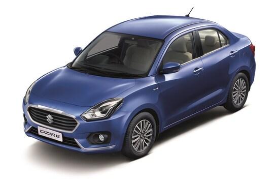 インドの新車販売で約半数を握るスズキ。写真は今年5月に同国に投入されたスイフトセダンである「ディザイア」