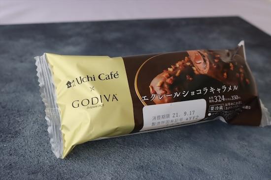 「Uchi Café × GODIVA エクレール ショコラキャラメル」税込350円