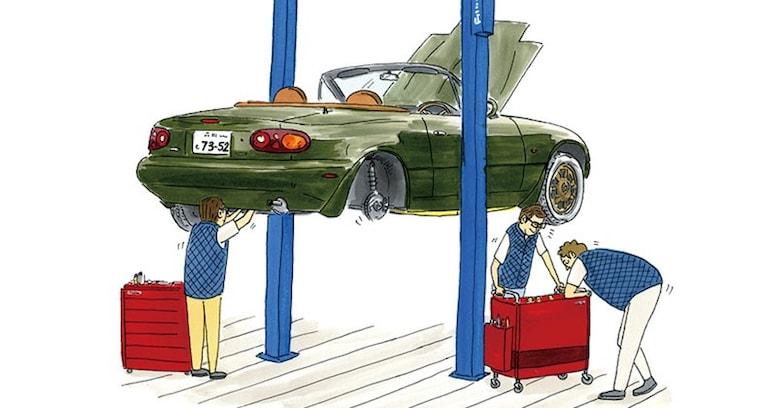 ピカピカの1年生に乗ろうか!──マツダ「ロードスター」のレストア事業開始!