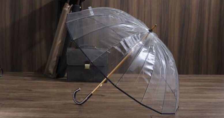 体をしっかり雨から守る、高級感と耐久性を備えた宮内庁御用達ビニール傘