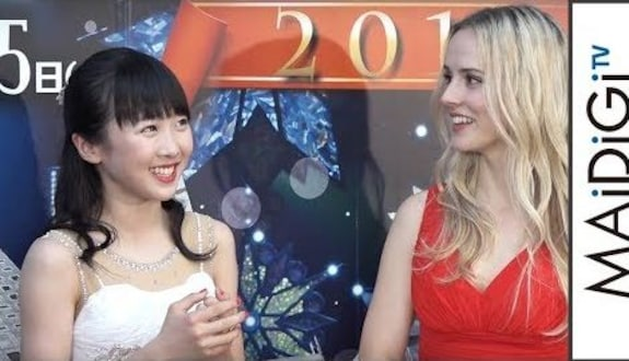 本田望結、ナタリー・エモンズと対面で「『トリバゴ』のお姉さんだ」「ブロードウェイ クリスマスワンダーランド」会見1