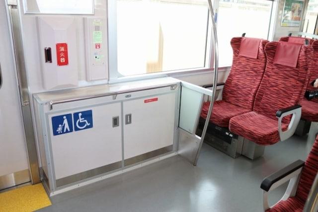 車椅子やベビーカーのためのスペース