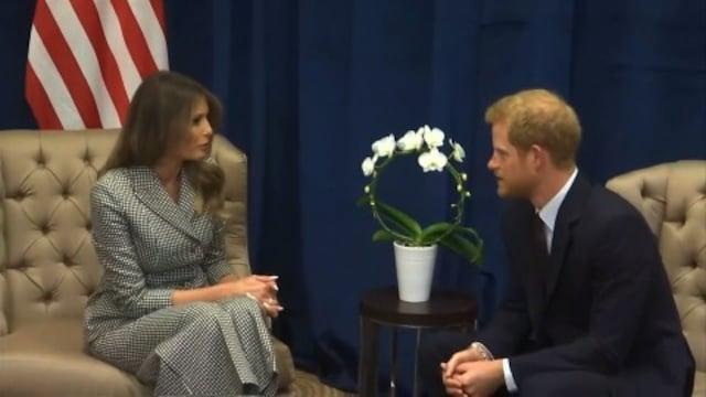 英ヘンリー王子、メラニア米大統領夫人と会談