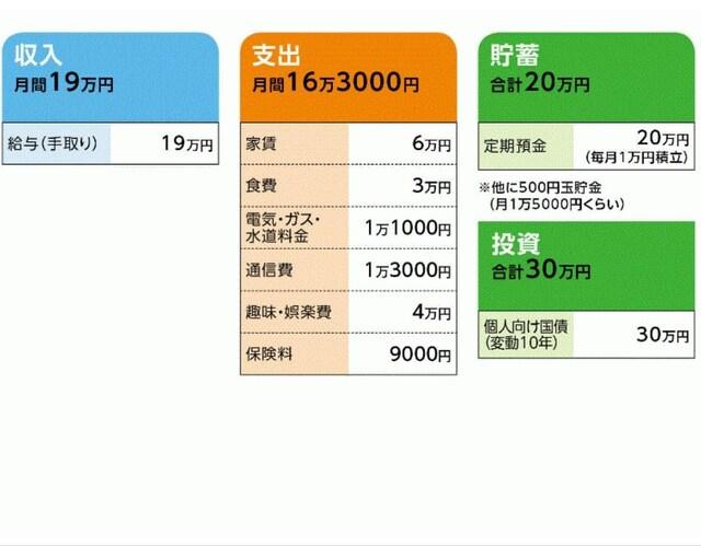 「江口弥生さん」の家計収支データ