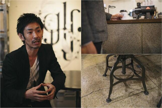 「真鍮とブラックの組み合わせが好き」と語る鈴木さん。アンティークが持つ懐かしさだけでなく、そこにモダンさをうまくプラスしているのが魅力です。