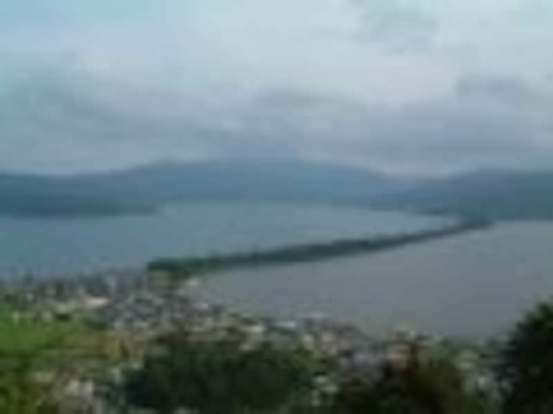 日本三景を訪ねて、天橋立を望む/京都
