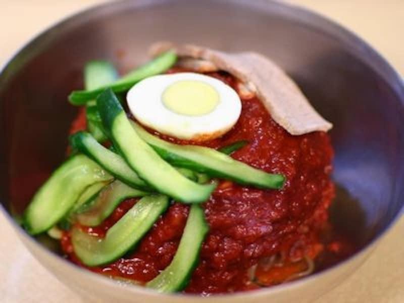激辛だけど美味しい!ヘジュ冷麺/ソウル