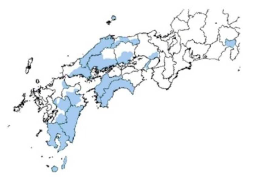 【図5】特殊土壌地帯の指定地域(出典:農林水産省)