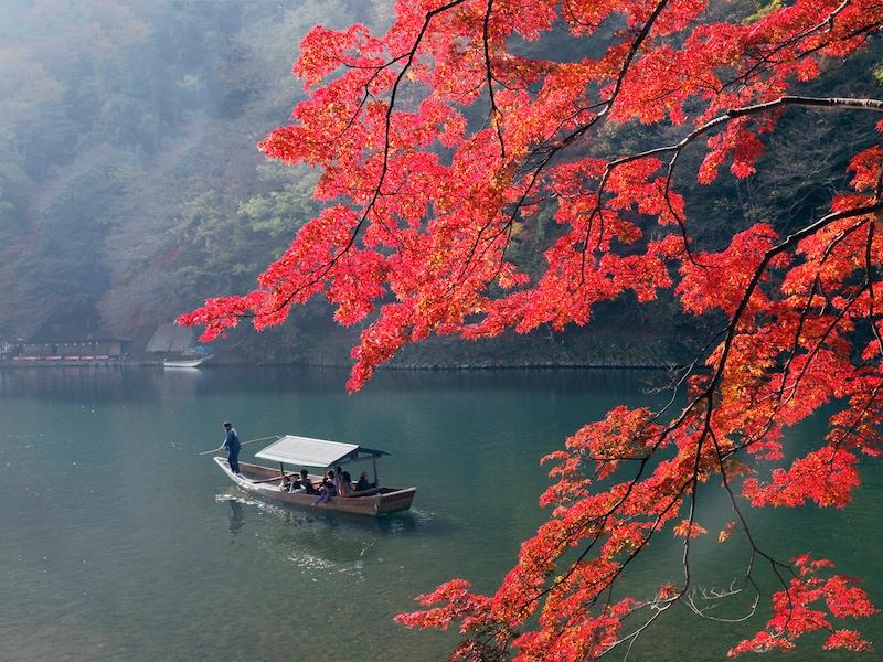 京都の嵐山、紅葉おすすめスポットを一日で巡るコース