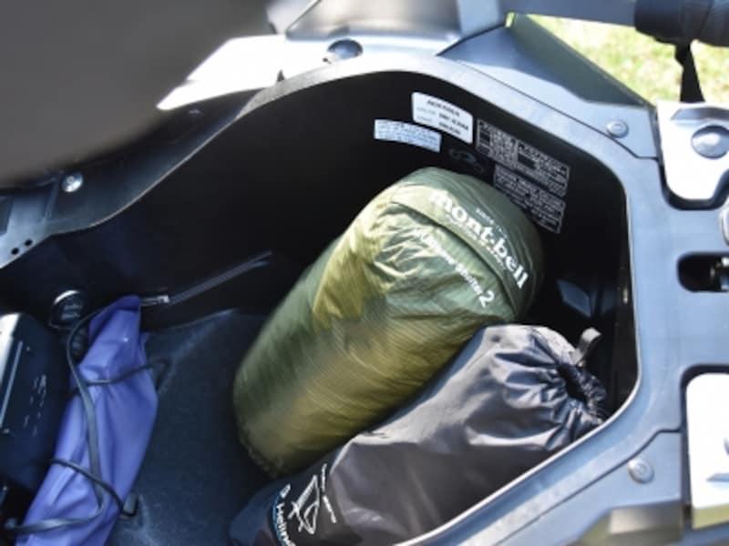 X-ADVのラゲッジスペースundefined最近の小型テントやキャンプ用の椅子なら余裕で収納可能