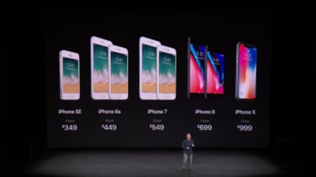 従来モデルは値下げ。新価格はiPhone8が699ドルから、iPhoneXが999ドルから