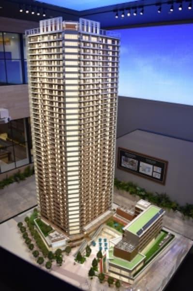 「パークシティ武蔵小山ザタワー」の完成予想模型