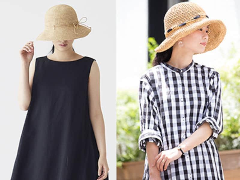 ワードローブに揃えたい、紫外線対策に欠かせない帽子。