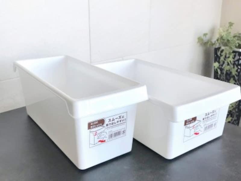セリアのおすすめ収納グッズ:指をかけて引き出しやすいデザインのアレンジスライドボックス
