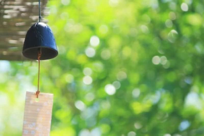 風鈴の音色には、涼しく感じさせる効果があります