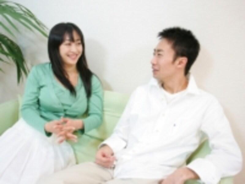 夫婦で会話