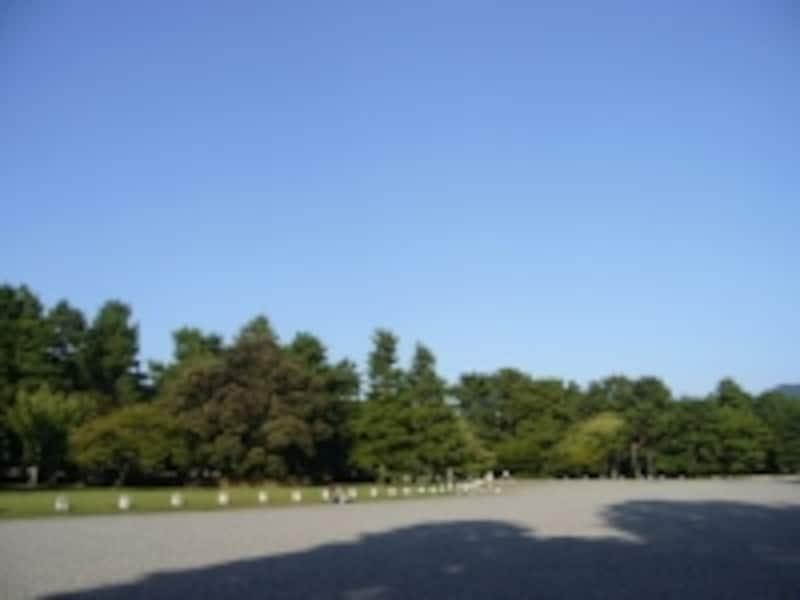 広大な公園部分が京都御苑で、その中に御所があります。