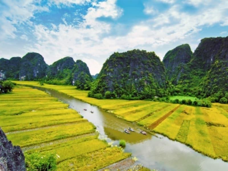 ベトナムの世界遺産「チャンアン複合景観」、タムコックの景色