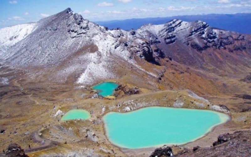 ニュージーランドの世界遺産「トンガリロ国立公園」、トンガリロ山のエメラルド・レイク