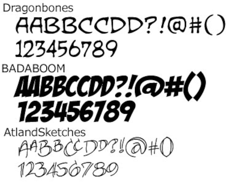 BLAMBOT! Free Comic Fonts