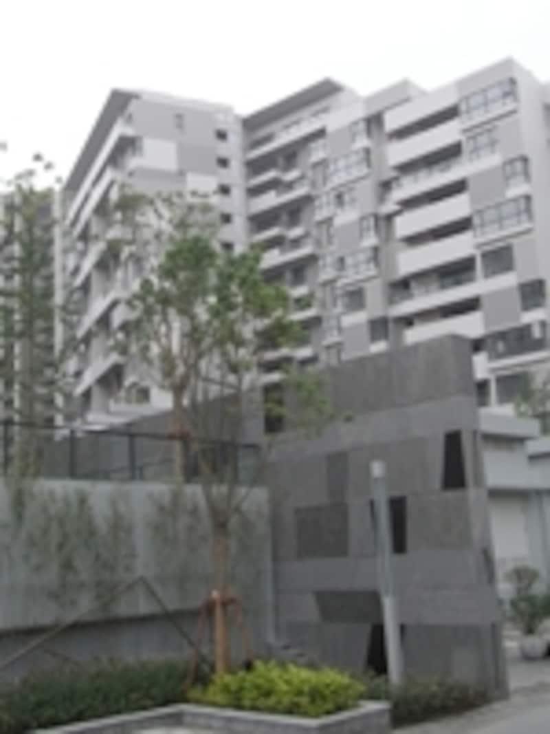現代的なマンション群の中に癒しの空間はありました