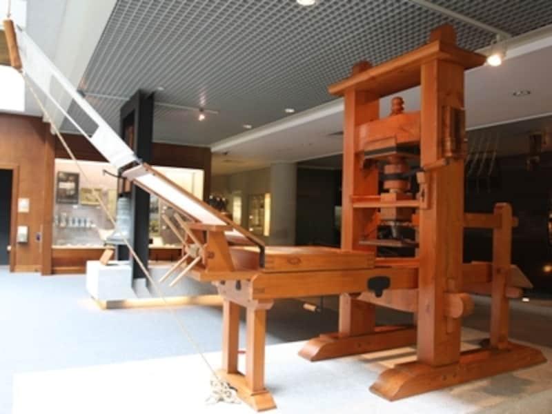 マカオ博物館に所蔵されている日本ともゆかりの深い大航海時代の印刷機(複製品)