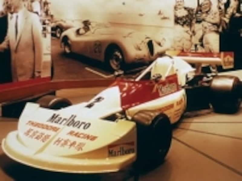 F3レースカーの実物が展示されている写真提供:マカオぴあ