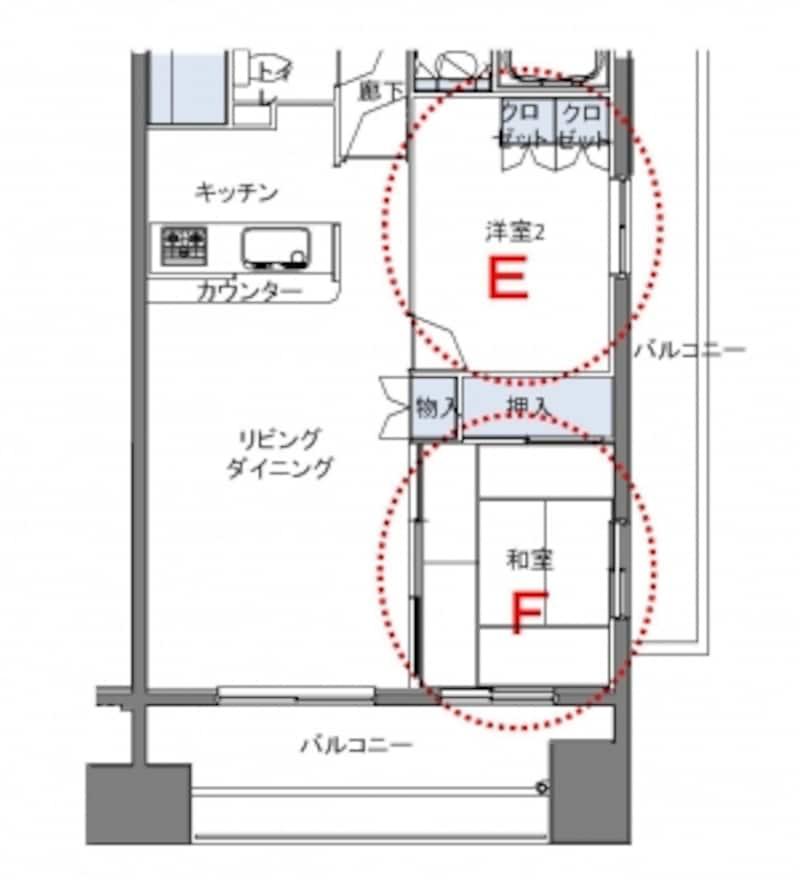 【図4】子ども部屋の位置と和室