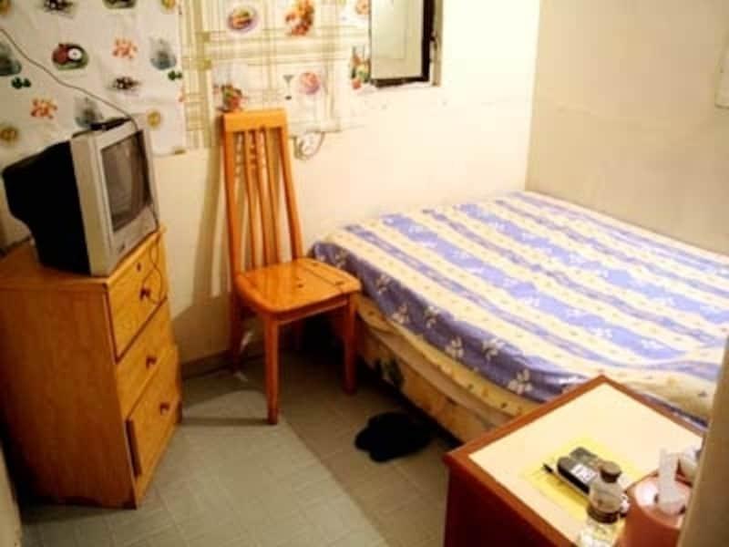 中国の安宿の内部。中国ビギナーはやはり渉外ホテルを選択するのがベスト